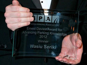 Wasiu-Seriki-Parking-Award-Nov-2012